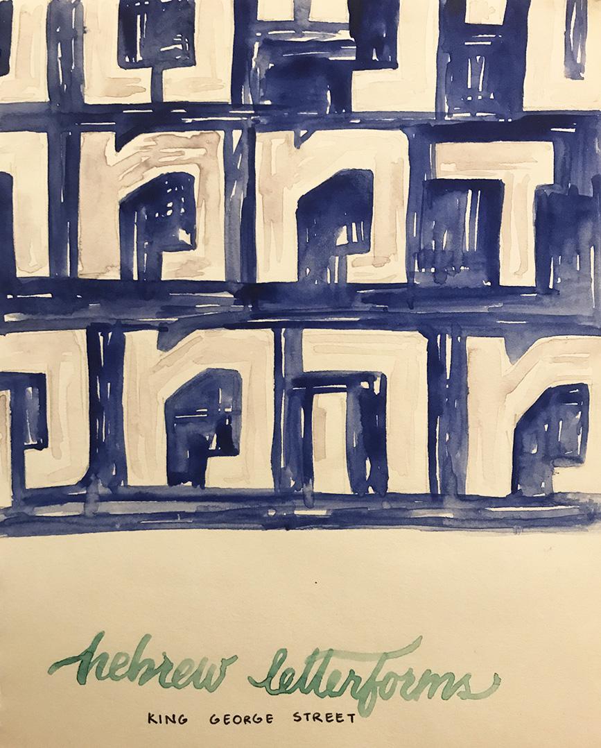 painted hebrew type in king george street, Mudita Agarwal