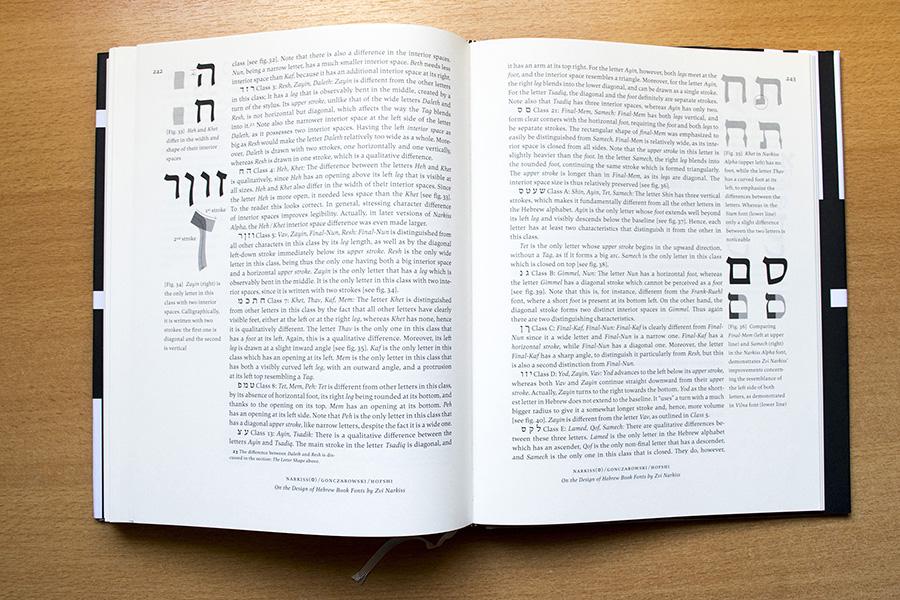כפולה מתוך המאמר: חלוקת האותיות העבריות לקבוצות. צילום: איתי ברן.