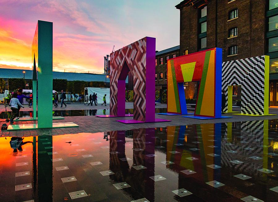קשתות פסיפס של אדם נתניאל פורמן, מבט צידי. צילום: אתר התערוכה designjunction.