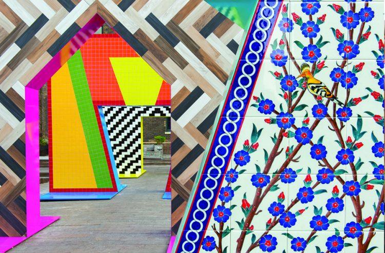 קשתות פסיפס של אדם נתניאל פורמן, צילום: אתר התערוכה designjunction.