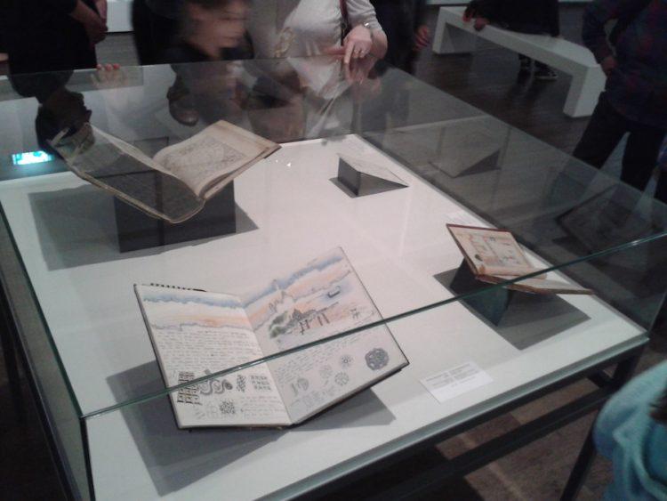 ספר רישום של איליאס מוצג בתערוכת 'מסעות' במוזיאון ישראל ב-2016-2017.