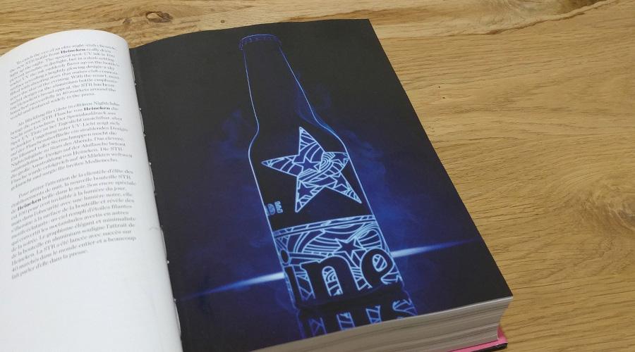 Heineken STR Bottle עיצוב שמשלב תאורה ומכוון לקהל יעד של מועדוני לילה