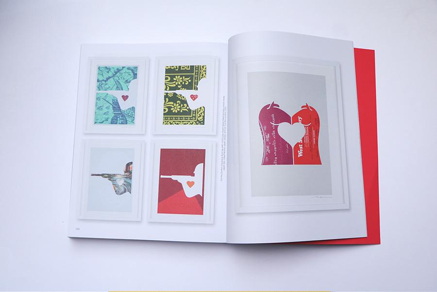 מימין: 'USA-Cuba', 'India-Pakistan', 'India-Pkistan' 'Paper Collage  משמאל: Stale Matee. מתוך תערוכת Cut the Conflict 2013.