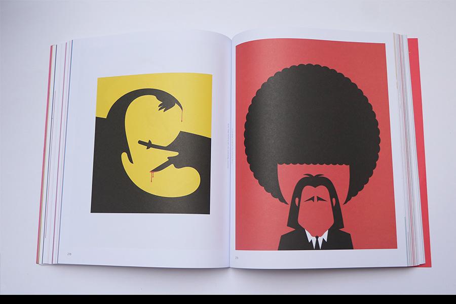 משמאל: Quentin Tarantino' for GQ france 2015'  מימין: 2014 'Pulp Fiction' for 'Empire