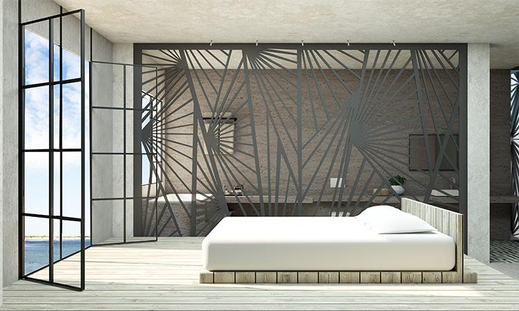 תמונה: מבט על חדר השינה. הדמיה של שני אנטמן