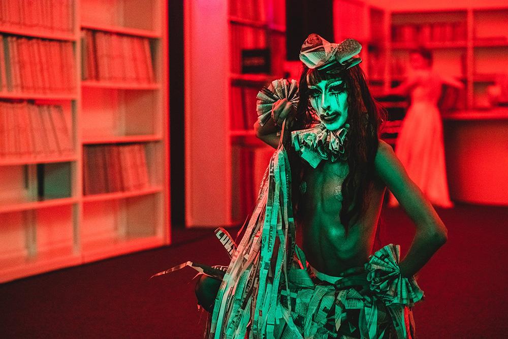 לילה מטורף בספרייה .צילום: אמנון חורש