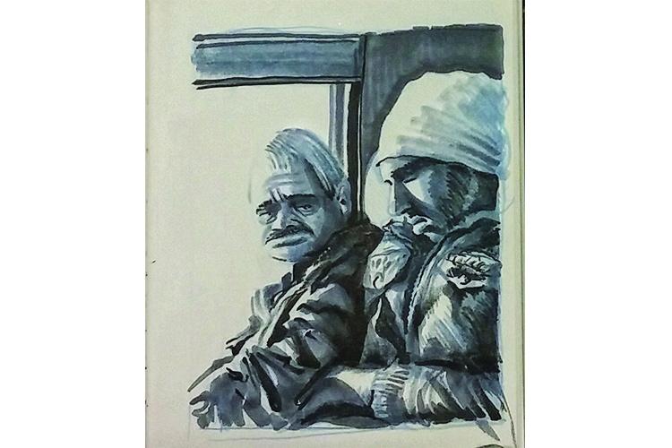 עובדים זרים ברכבת