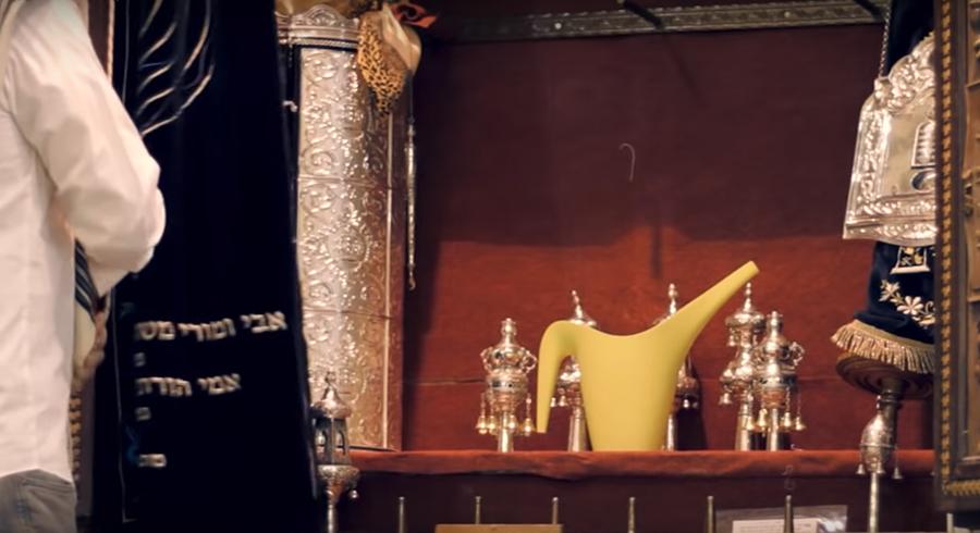 תרגיל הוידאו הראשון של וניה בלימודיו בבצלאל -