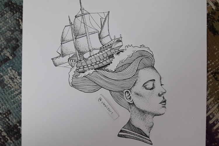 רפידוגרף בהשראת הים 2