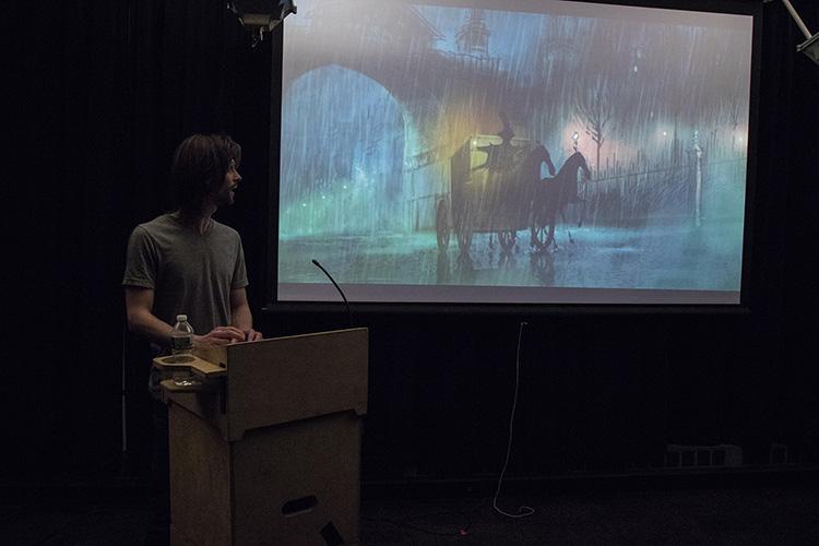 איוואן מציג את הפרויקט.