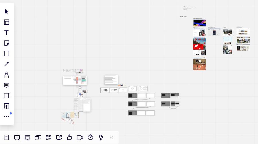 לוח העבודה השיתופי באתר Miro. צילום: רון חדד