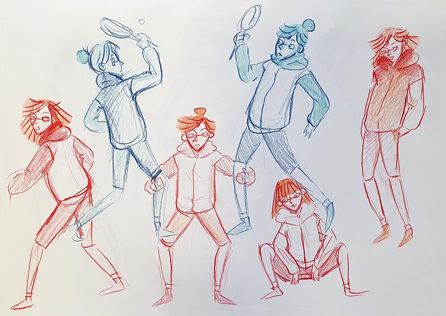 עיצוב דמויות לפרויקט גמר