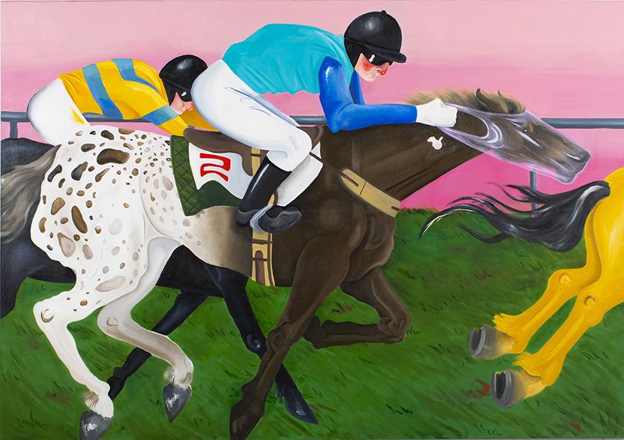 מתוך תערוכת הגמר Horse Shit; an Analogy of Post Post Post Modern Painting