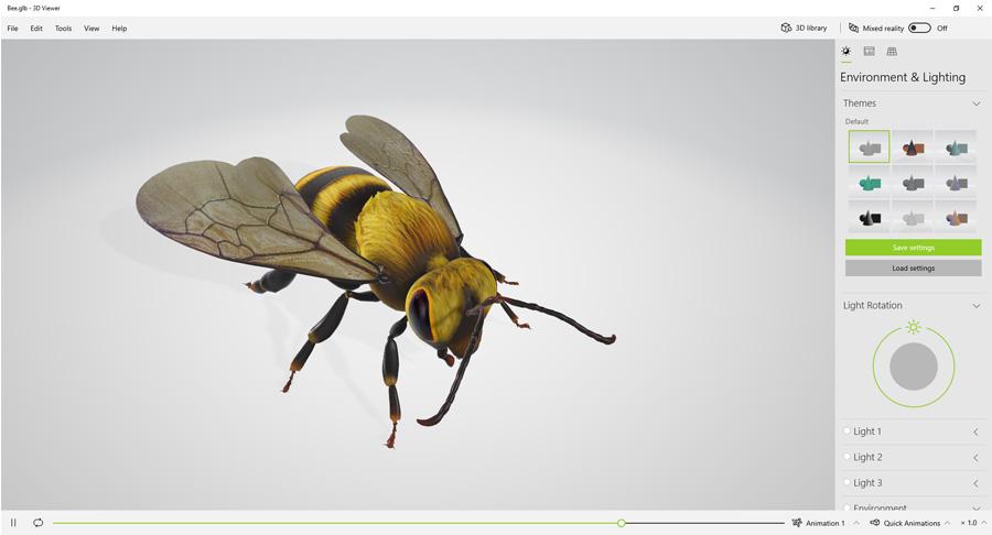 3DViewer, צילום מסך