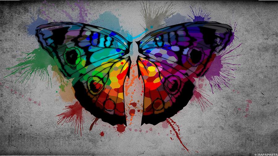 פרפר בקשת של צבעים, karito34