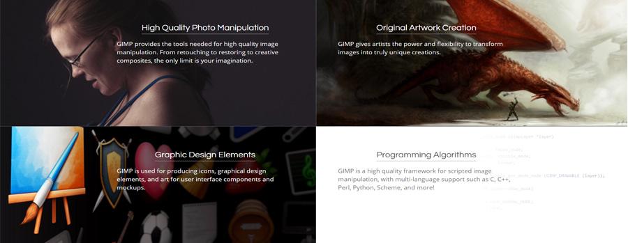 GIMP, צילום מסך