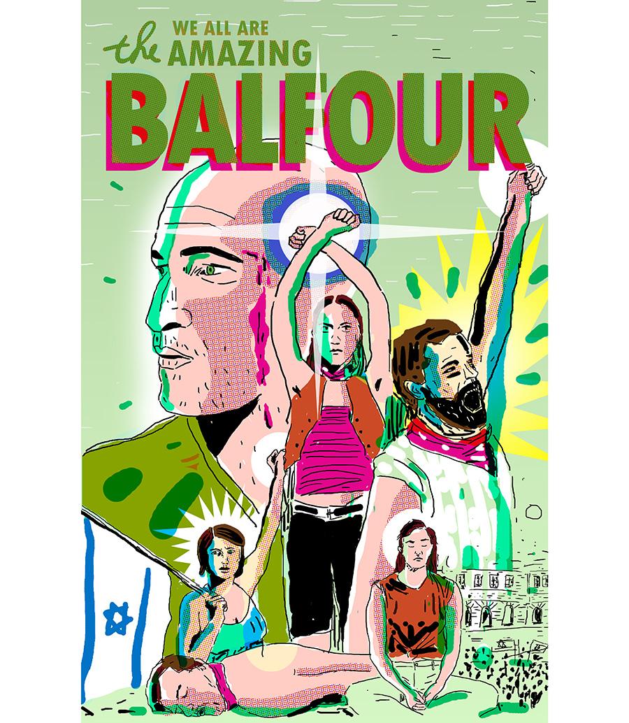 הפוסטר הראשון של The Amazing Balfour בהשראת ספיידרמן