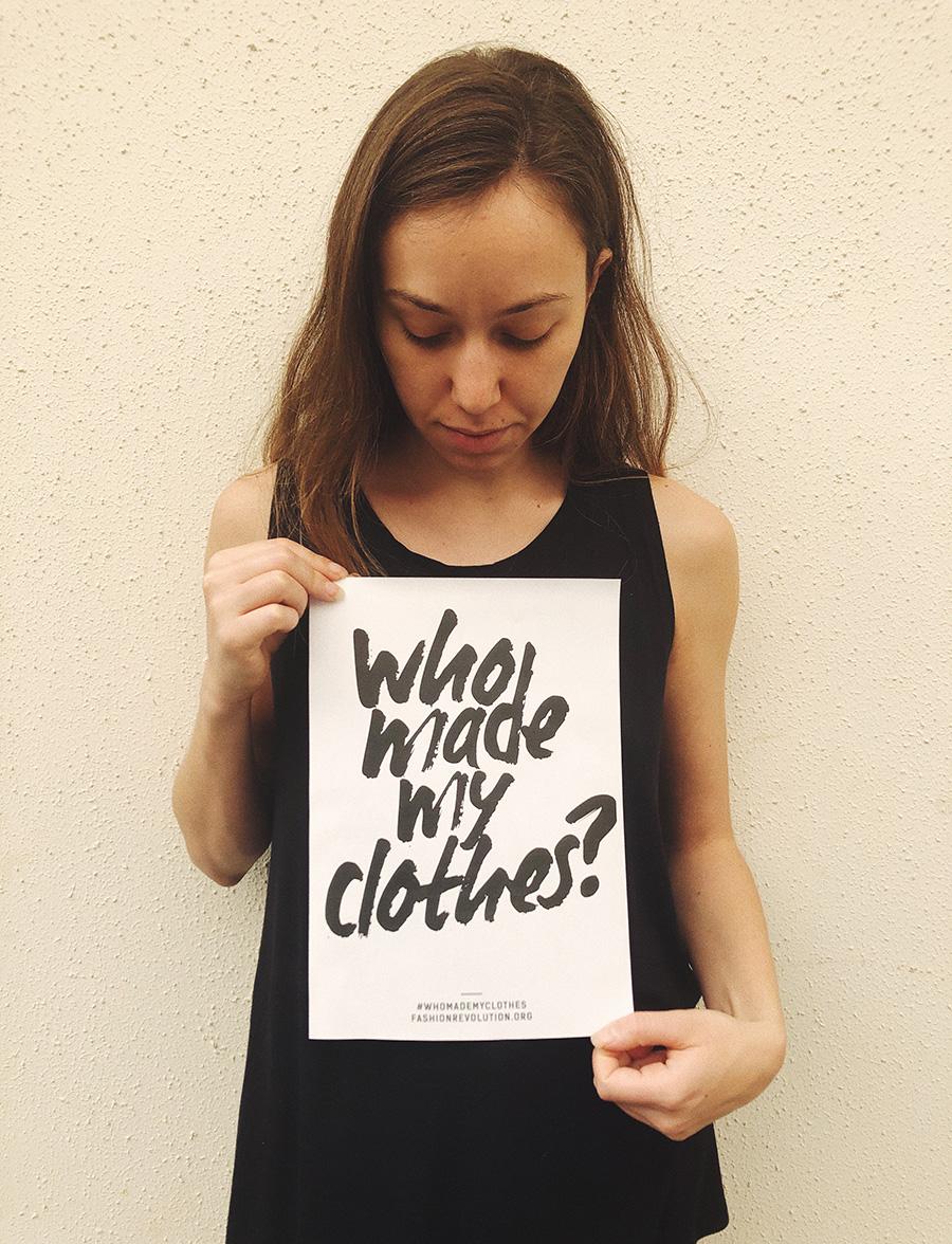 גלית לבב, Who Made My Clothes? מתוך חשבון האינסטגרם של Re.gal.