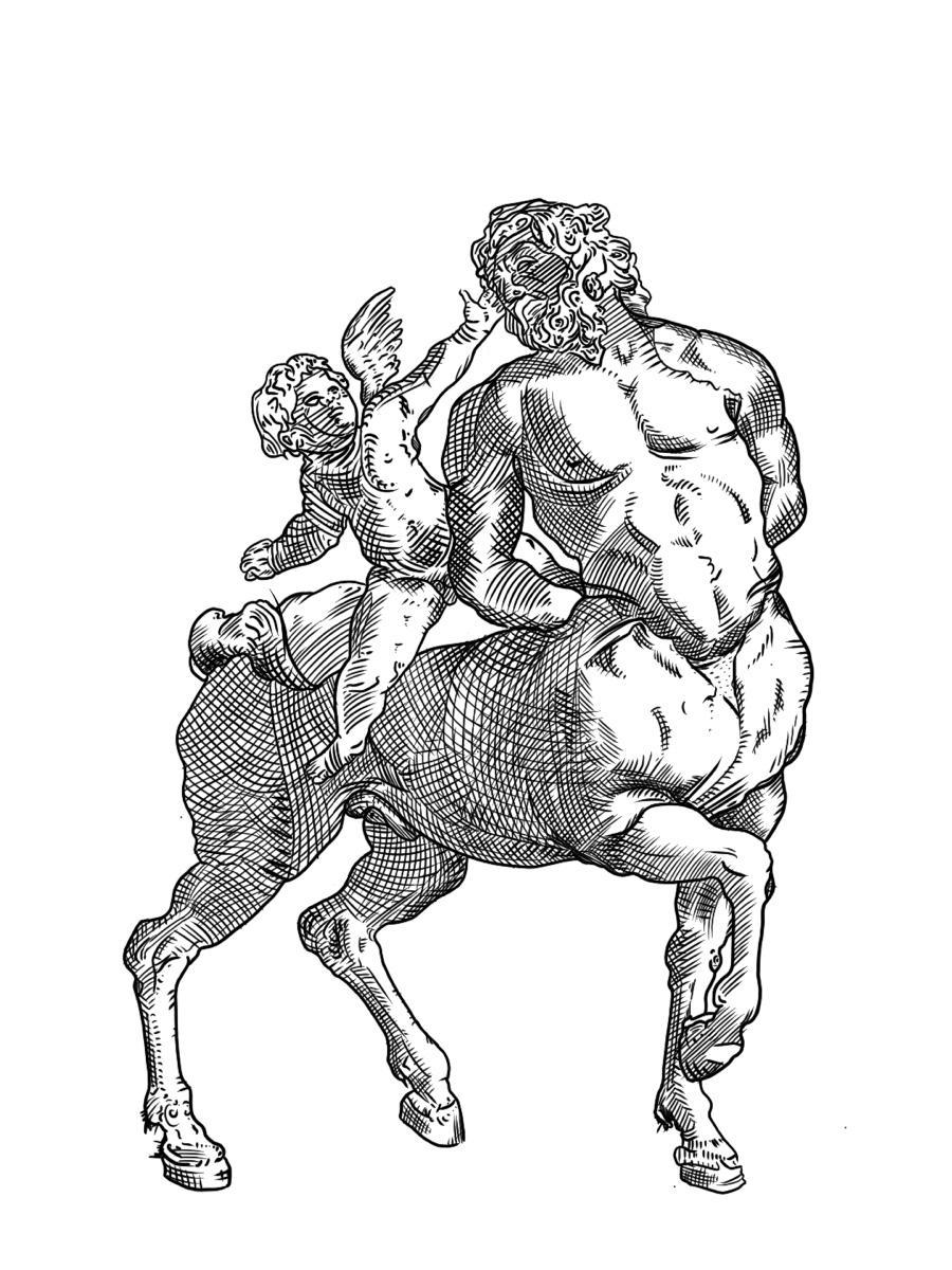 Chintor the Deathless Centaur and Poseidon