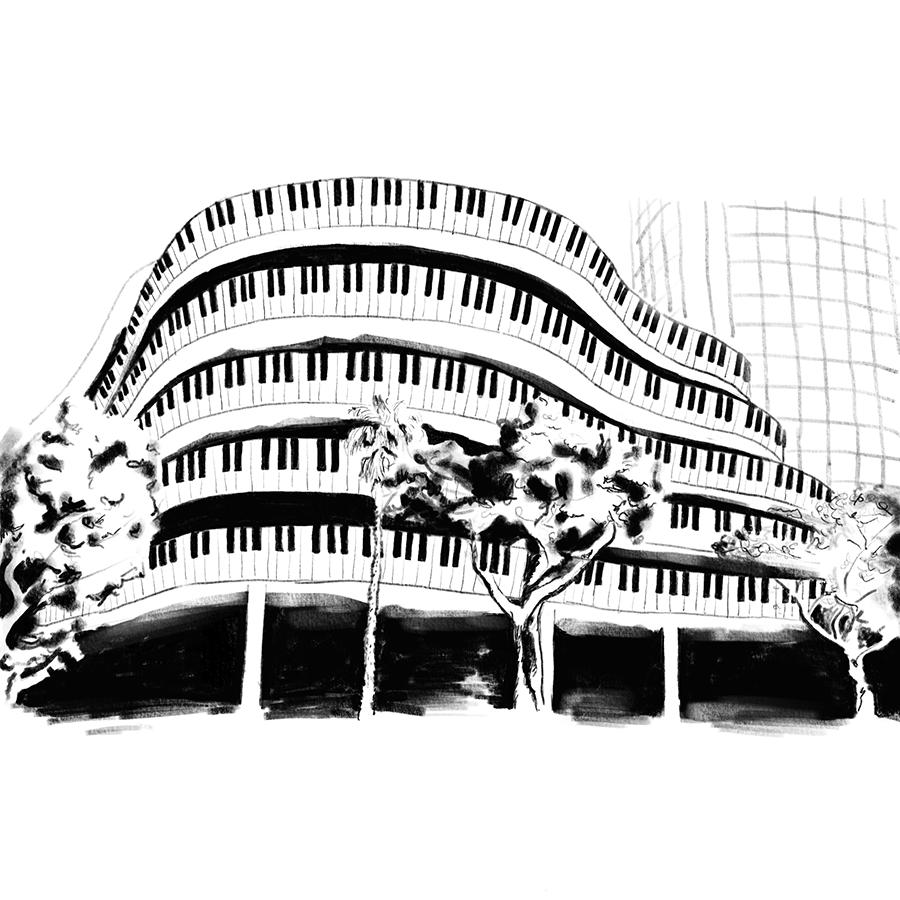 סקיצה לפסטיבל הפסנתר